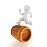 Roling barrel Stock Images