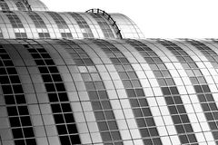 Roling squares. Black and white abstract architecture detail Royalty Free Stock Photo