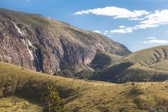 Rolinho瀑布- Serra da Canastra国家公园-米纳斯格拉 图库摄影