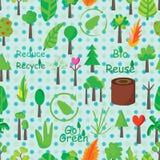 Rośliny ikony Bezszwowy wzór Obraz Royalty Free