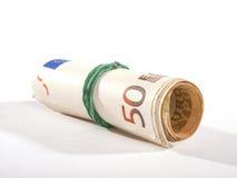 Rolka banknoty z elastycznym Fotografia Royalty Free