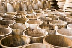 Rolka drewna wazowi w fabryce Zdjęcie Stock