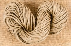 Rolka linowa tekstura, burlap zdjęcie royalty free