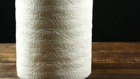 Rolka papierów kuchennych ręczników tekstura zdjęcie wideo