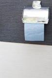 Rolka papieru toaletowego właściciel w toalecie Obraz Stock