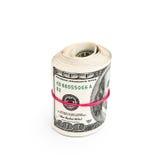 Rolka sto dolarów Zdjęcia Stock