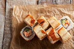 Rolka z kraba mięsem Obraz Stock