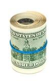 Rolka zawijająca gumą dolar amerykański Zdjęcie Stock