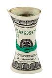 Rolka zawijająca gumą na białym tle dolar amerykański Obrazy Stock