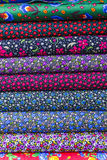Rolki barwione tkaniny Zdjęcia Stock