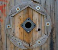 Rolki drewno dla kabli okulistycznych Fotografia Stock