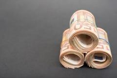 Rolki euro pieniądze obraz stock