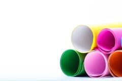 Rolki kolor paper-4 zdjęcia stock