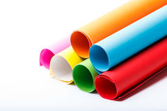 Rolki kolor paper-4 zdjęcia royalty free