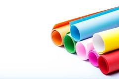 Rolki kolor paper-4 obraz stock