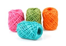 Rolki kolorowy linowy gejtaw odizolowywający na whitr tle Fotografia Stock