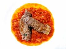Rolki mięsny i pomidorowy kumberland Zdjęcia Royalty Free
