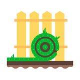 Rolki zielonej trawy gazon ilustracja wektor
