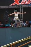 rolkowa łyżwiarka zdjęcia royalty free