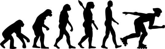 Rolkowego łyżwiarstwa ewolucja royalty ilustracja