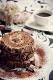 Rollè del ganache del cioccolato Fotografia Stock Libera da Diritti