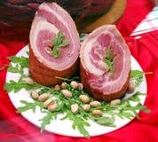 Rollè della carne di maiale Fotografie Stock Libere da Diritti