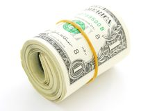Roll of 1 US dollars Stock Photo