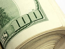Roll of $100 bills Stock Images