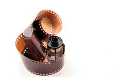 Roll of 35mm film. A roll of 35mm photo film Stock Images