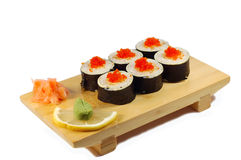 Roll Aby tempuro maki Stock Photography