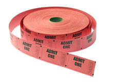 Roll of Admission Tickets Royalty Free Stock Photos