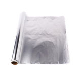 Roll of aluminium foil paper over isolated white background Royalty Free Stock Image