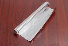 Roll of the aluminum foil for household use Royalty Free Stock Image