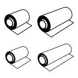 Roll of any foil black symbols Royalty Free Stock Photo