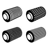 Roll of anything foil thread spool Stock Photos