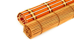 Roll of bamboo curtain Stock Images