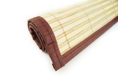 Roll of bamboo mat Royalty Free Stock Photography