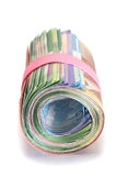 Roll of banknotes Royalty Free Stock Images