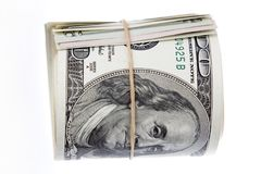 Roll of banknotes. On plain background Royalty Free Stock Image