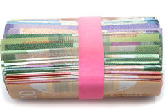 Roll of banknotes Royalty Free Stock Photo
