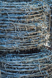 Roll of barb wire. Pattern and texture from roll of barb wire Stock Photography