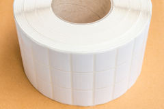 Roll of Barcode Label Stickers Stock Photo