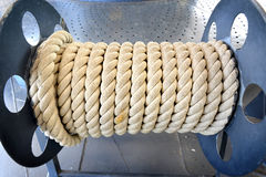 The roll of big and strong rope Royalty Free Stock Image