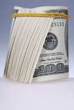 Roll of bills. Money roll, roll of bills, roll of dollar bills Royalty Free Stock Images
