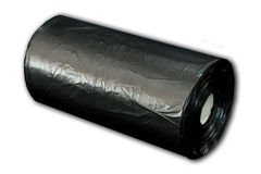 Roll of bin bags. Isolated roll of bin bags Stock Photography