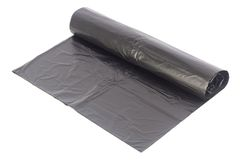 Roll of black dustbin liners Royalty Free Stock Photo