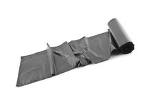 Roll of black dustbin liners Stock Images