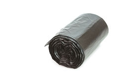 Roll of black garbage bag Royalty Free Stock Photos