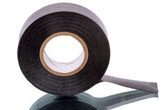 Roll of black Insulating Tape Royalty Free Stock Images