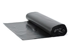 Roll of black plastic garbage bags Royalty Free Stock Photography